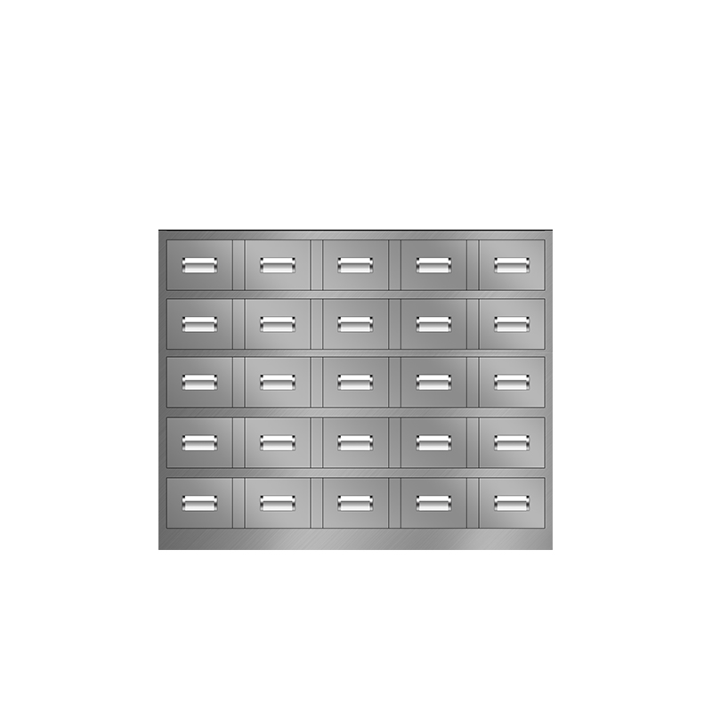25抽不锈钢中药柜
