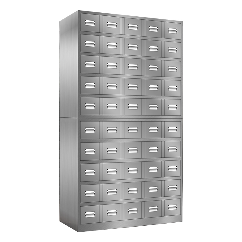 50抽不锈钢中药柜