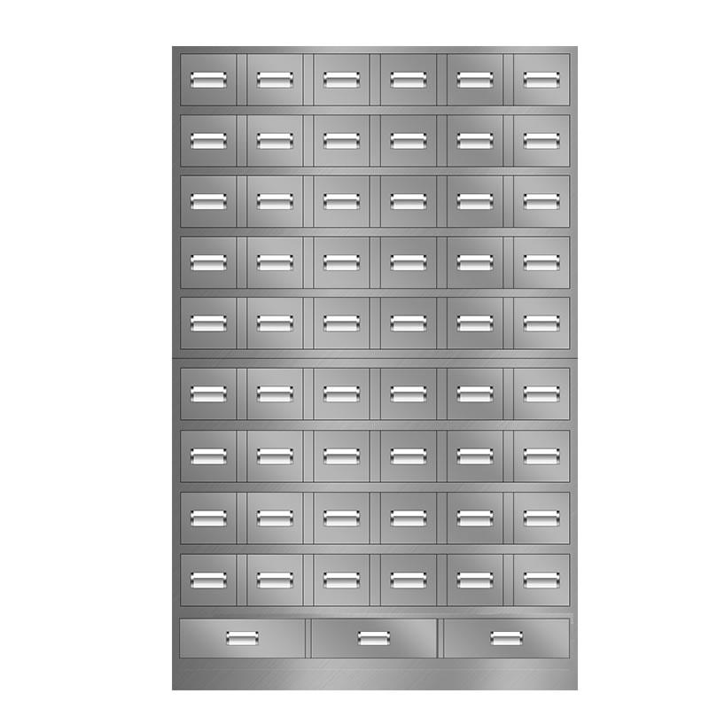 57抽不锈钢中药柜
