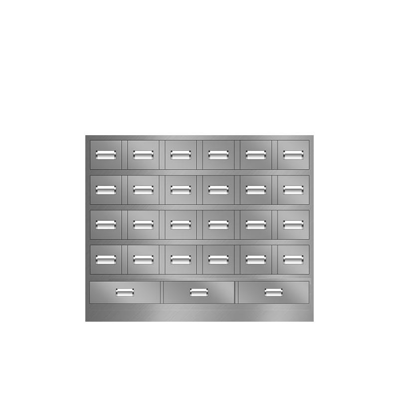 27抽不锈钢中药柜