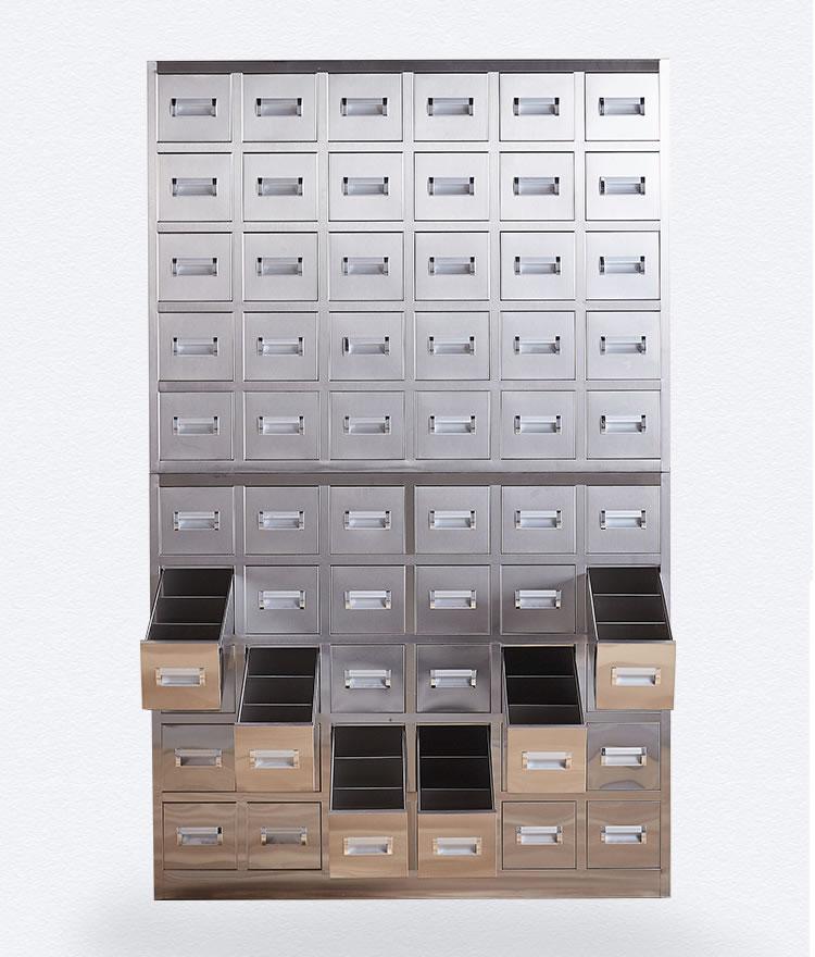 南京60抽不锈钢中药柜