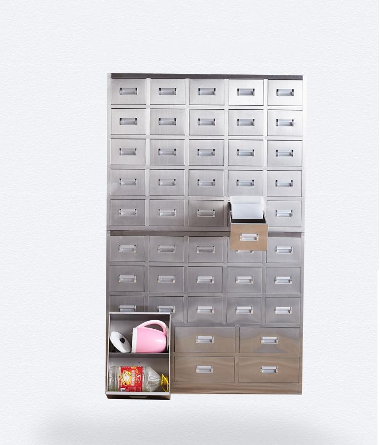 南京46抽不锈钢中药柜