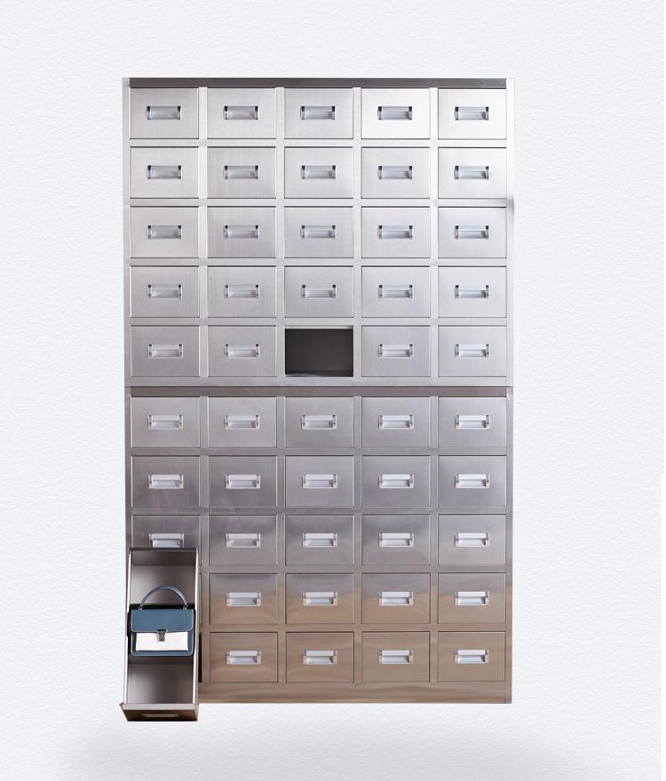 南京50抽不锈钢中药柜